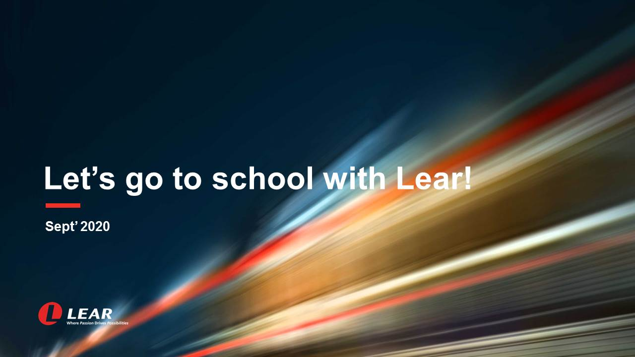 Community Action: Let's go to school with Lear